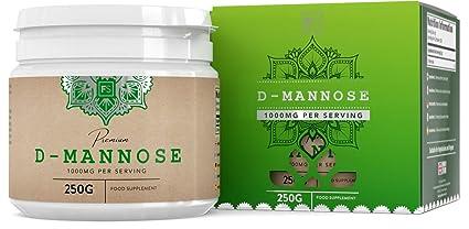 D Manosa Polvo 100% Puro - Para la salud de la vejiga | Tratamiento para Infección urinaria, Cistitis y ITU | Apoyo al Sistema inmune (SIN ADITIVOS) - ...