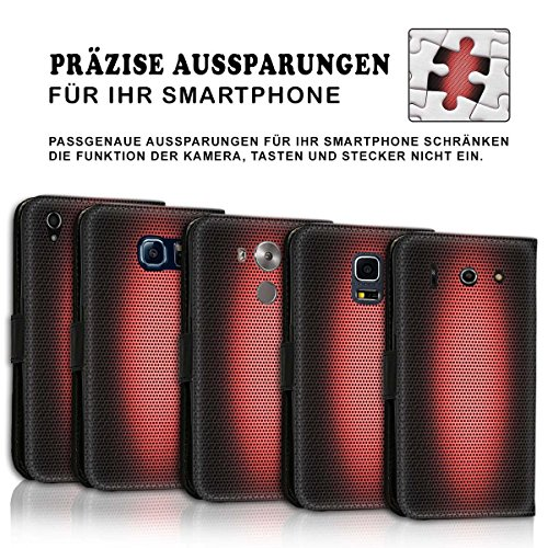 Wallet Book Style Flip Handy Tasche Case Schutz Hülle Schale Motiv Etui für Apple iPhone 5 / 5S - Design Flip MV250