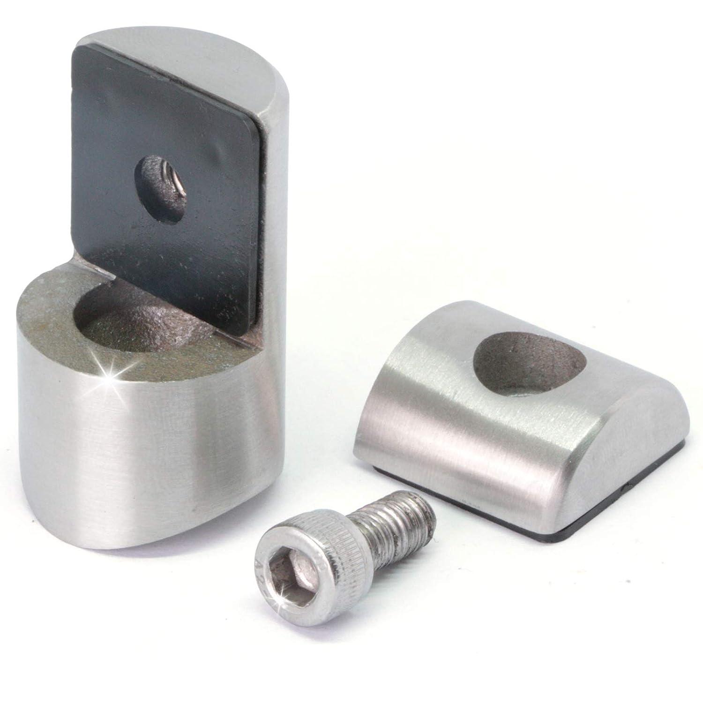 Blechhalter Edelstahl V2A Lochblechhalter Plattenhalter Ø 42, 4 mm x 1 Stück PRIOstahl