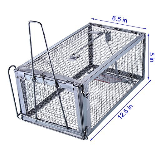 Trapro Humane Rat Cage Trap for Rats Mice Chipmunks Squirrels and Other Similar-Sized Rodents
