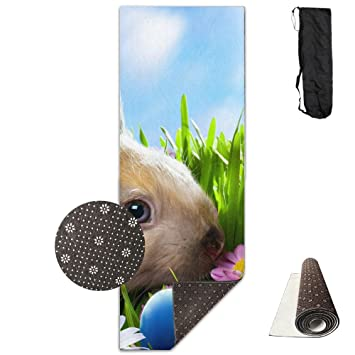 Beautiful Easter Bunny And Coloured Eggs Yoga Mat - Advanced Yoga Mat - Non-Slip