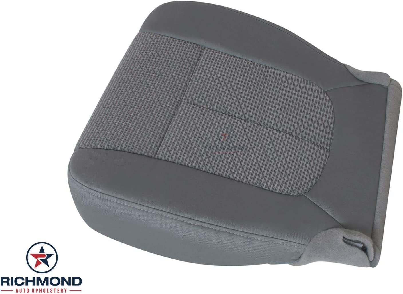 Driver Side Bottom Replacement Cloth Seat Cover Compatible with 2011-2016 Ford F-250 XLT Steel Gray Gray Richmond Auto Upholstery