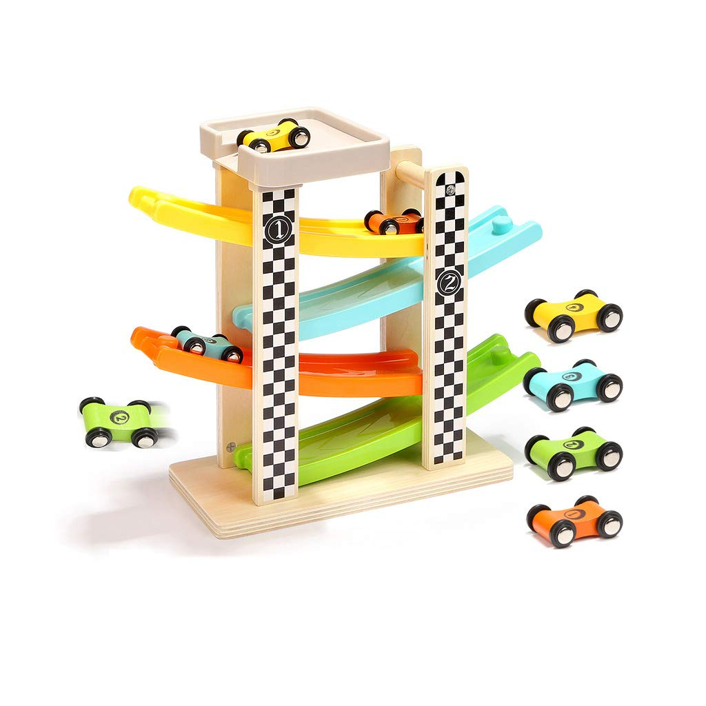 LINGLING-Track Gliding Children's Toys Car Track Puzzle Game Track Puzzle 2 Years Old (Color : Four Tracks, Size : 8 Cars)