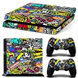 FriendlyTomato PS4 Console and DualShock 4 Controller Skin Set – Collage Brand Design – PlayStation 4 Vinyl For Sale