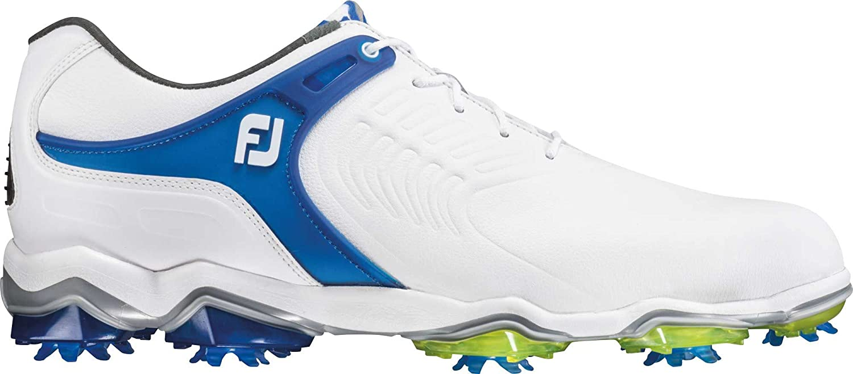FootJoy Tour-S Golf Shoes B079MHMWKY 13 D(M) US|White/Blue-wide