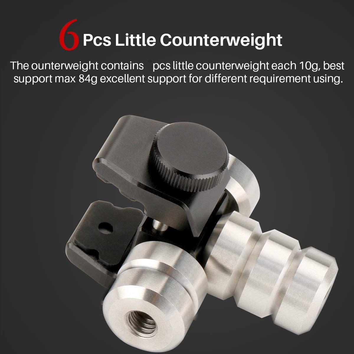 1b42b159f9e3 Universal Counterweight for DJI Osmo Mobile 2, Zhiyun Smooth 4, Smooth Q,  Feiyu Vimble 2, Moza, Evo and Other Phone Gimbal Stabilizer Mount Weight to  ...