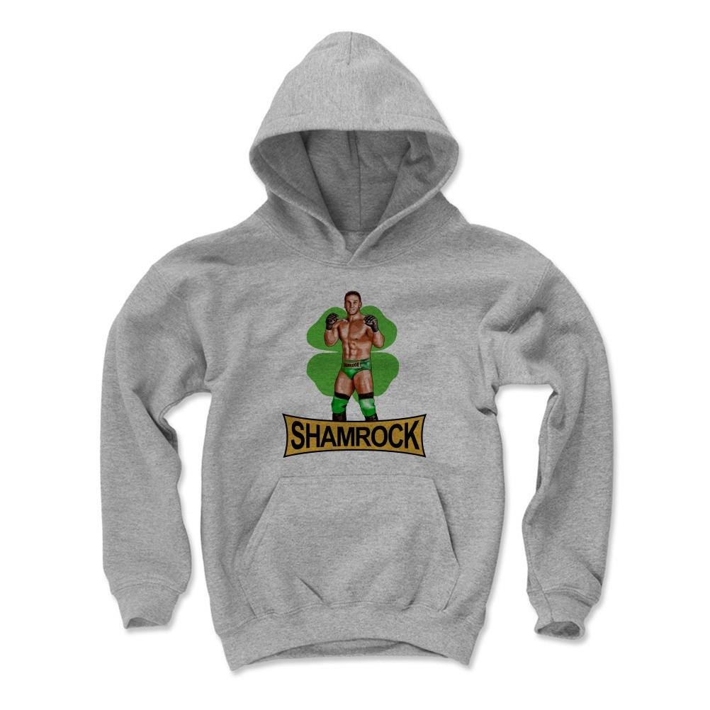 500 Level Ken Shamrock Kids Youth Hoodie S Gray - Ken Shamrock Illustration G - Officially Licensed by Pro Wrestling Tees