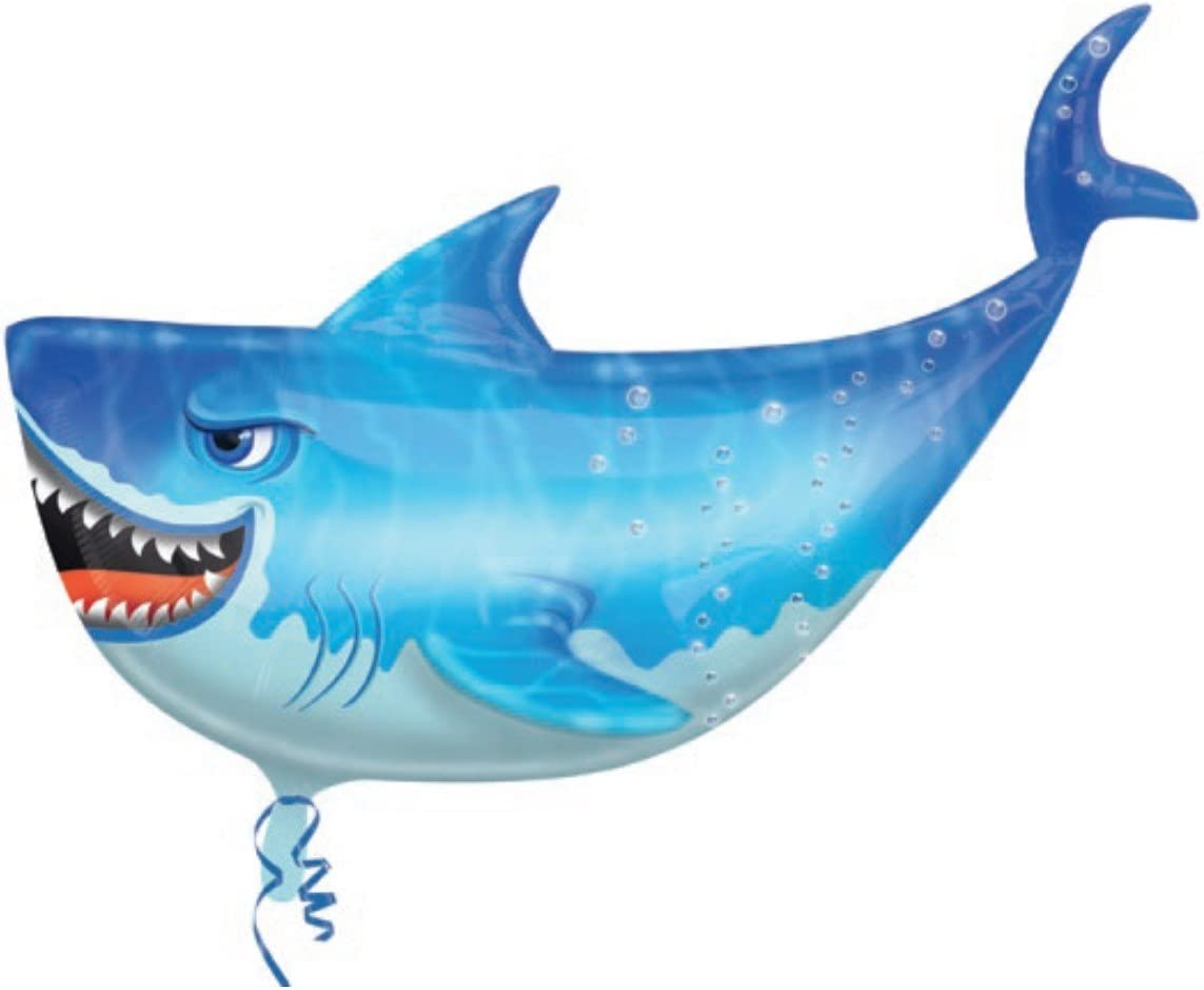 Globo Tiburon - Forma 80cm Foil Poliamida - A2747802: Amazon ...