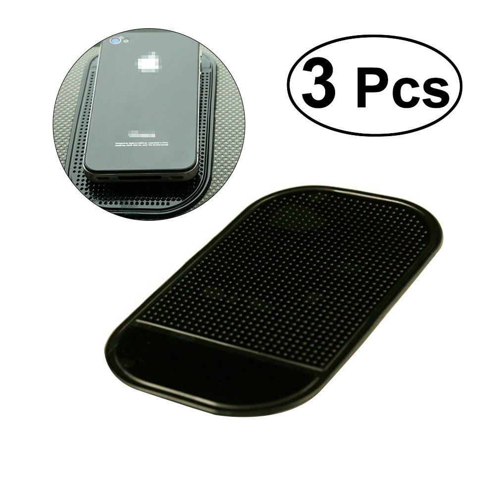 winomo 3/morceaux daspiration forte Anti Slip voiture Dash Collants Pads r/ésistantes /à la chaleur tapis voiture antid/érapant Grip Pad antid/érapant Anti Collants Slide Dash Housse Support Mat Noir