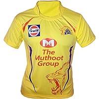 JS Chennai Super Kings Unisex ipl Jersey for Kids & Mens