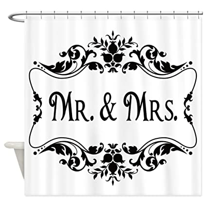 Amazon CafePress Mr Mrs Shower Curtain Decorative Fabric