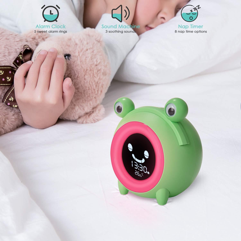 Baby Nursery Baby Children's Sleep Training Clock with Wake Up ...