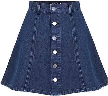 Falda corta del dril de algodón de la falda corta de la manera occidental, L (tamaño asiático): Amazon.es: Ropa y accesorios