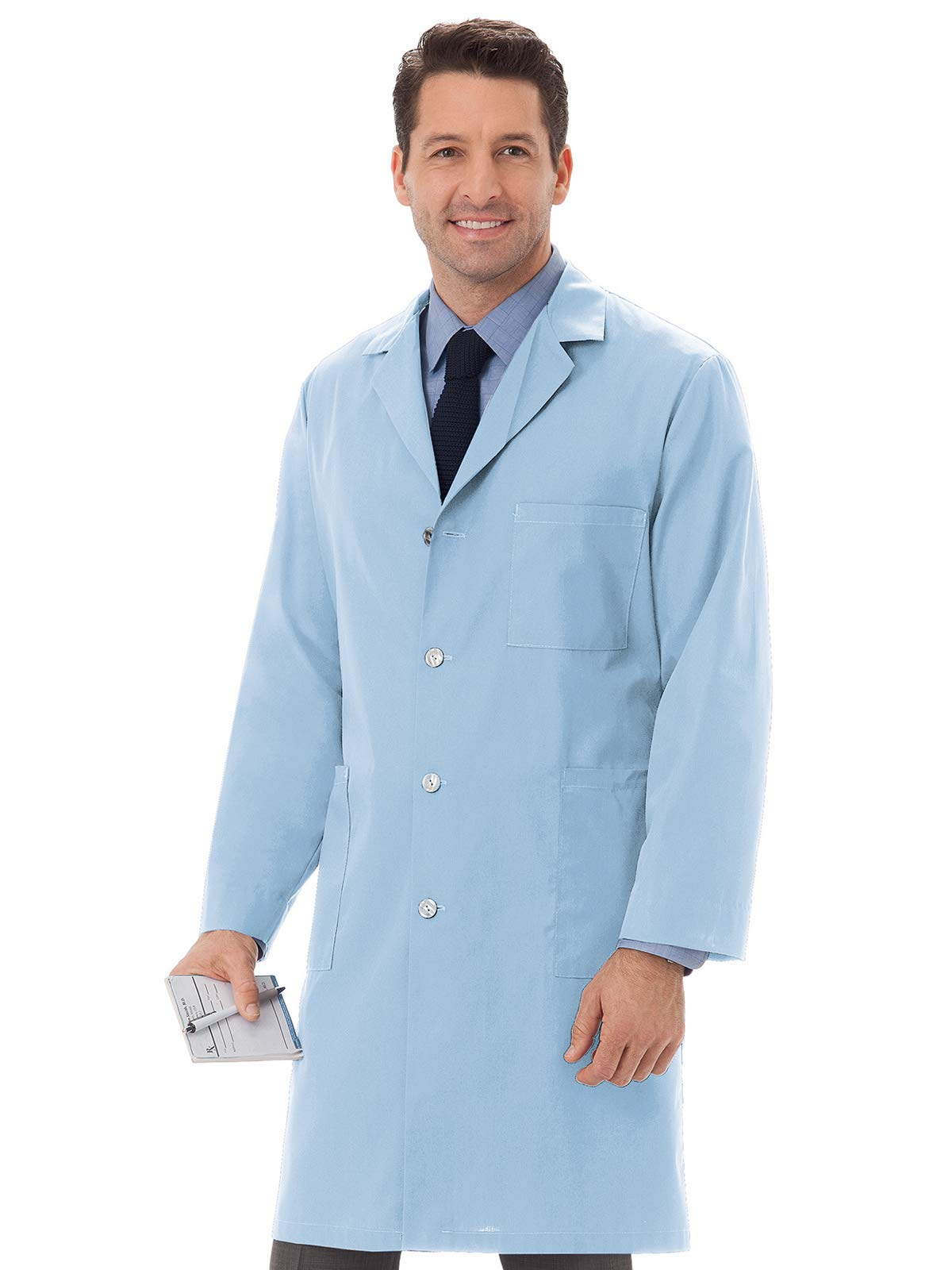 Meta 61166 Unisex 40'' Labcoat Light Blue Medium