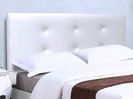 Testiera Per Letto Singolo : Suenoszzz bruselas testiera per letto da cm bianco