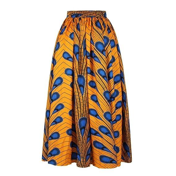 LULUKO Mujer Eatampado Africano y India Moda Impresa Digital ...
