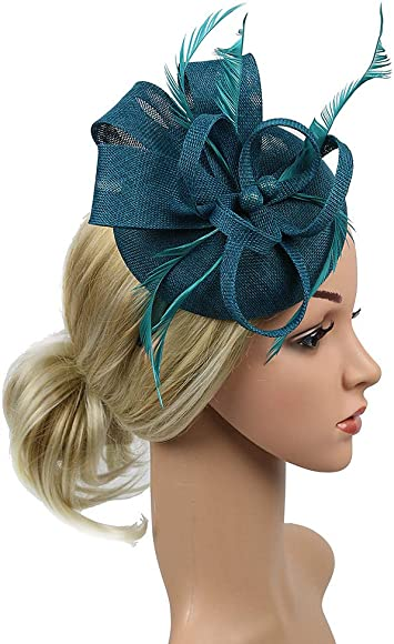 One Size, Green Topassion Hair Band Rope Camellia Flower Ponytail Holder Scrunchie Hairband Accessory Handmade Women Hair Clip Feather Wedding Casual Headpieces Biral Hat for Ladies