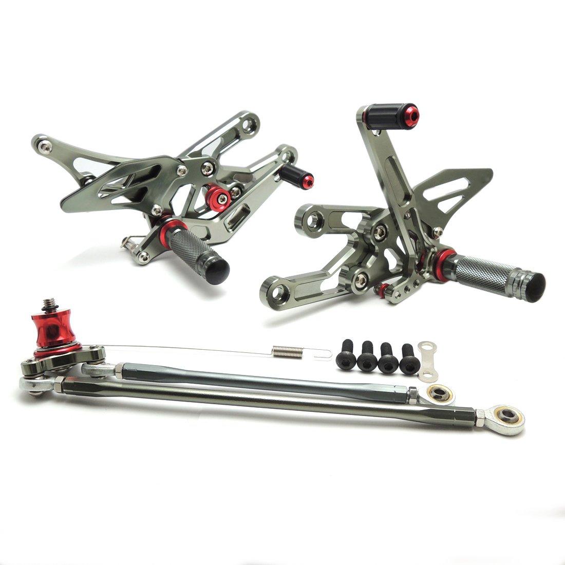 CBR 1000 RR Rearsets Rear Sets Foot Rest Footpeg Adjustable for Honda CBR1000RR 2004-2007 CBR600RR 2003-2006