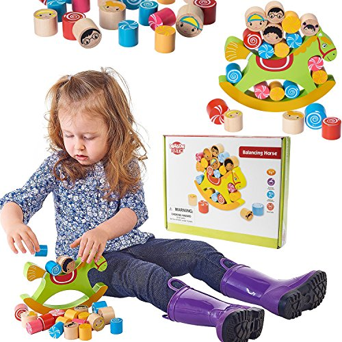 Wooden Toy Games - Balancing & Stacking Educational Toy By