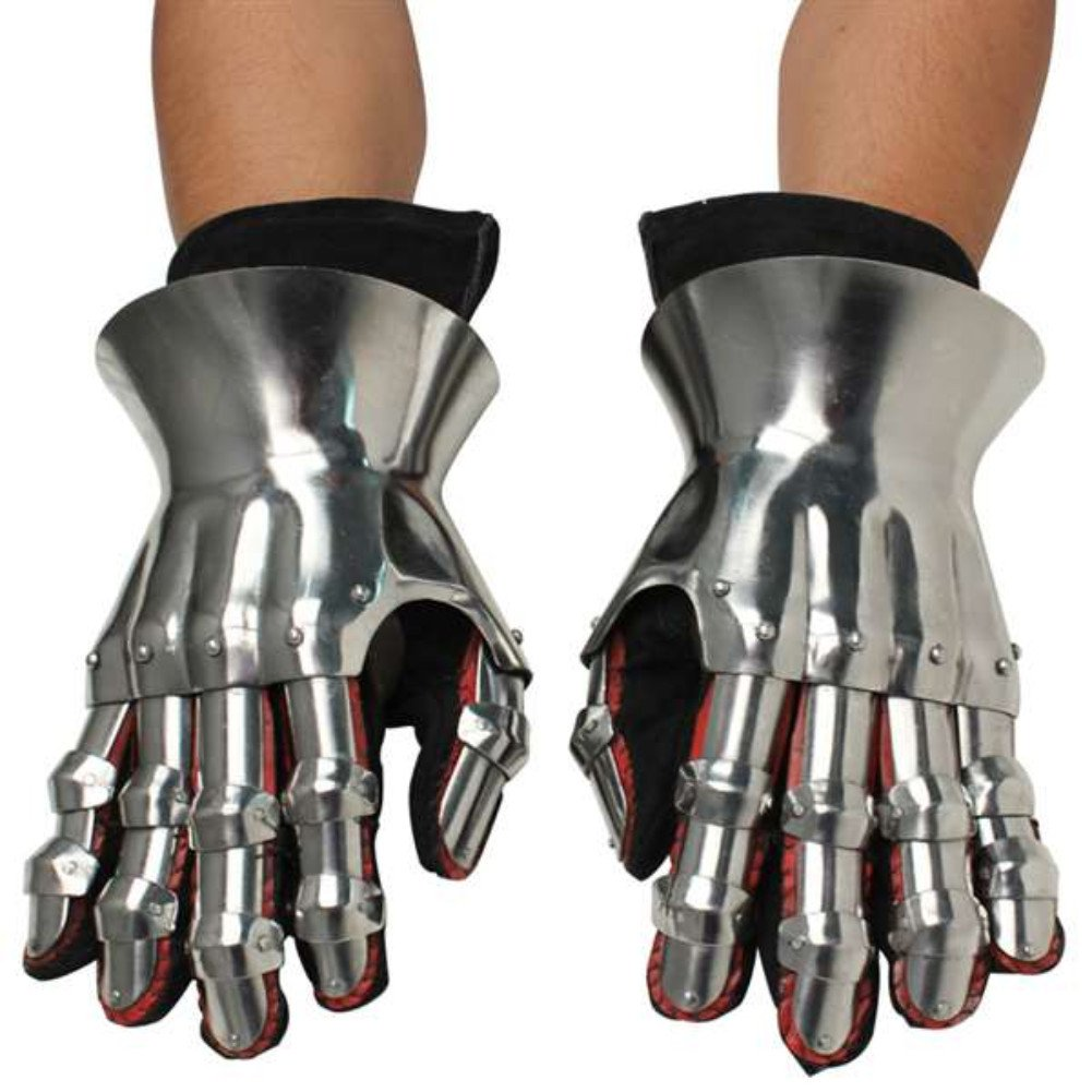 Armor Venue: Functional Hourglass Gauntlets Set Metallic One Size