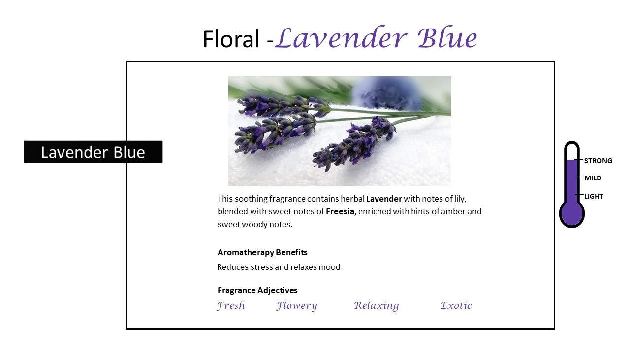 Rosemoore Blue Lavender Blue Scented Tea Lights For Living Room, Washroom, Bedroom, Office by Rose and Moore (Image #4)