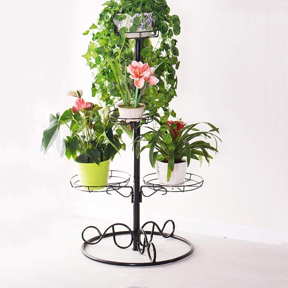 Portafiori Multifunzione Flower Stand, Iron Art Multi-Layer Living Room Balcone Ravanello verde Adatto per Carne JINRONG (colore   96  53cm)