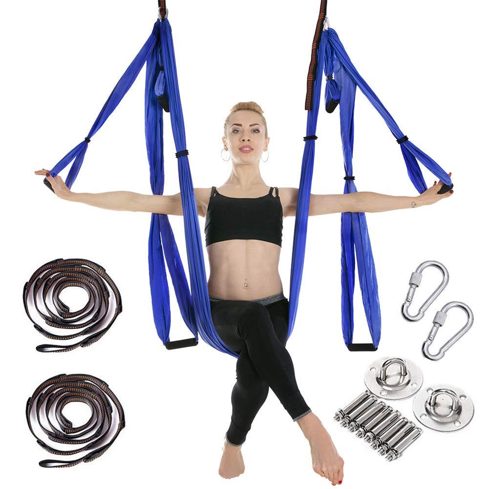 Clean Dell Yoga Hängematte Set Luftseide Yoga Set Safe Deluxe Aerial Kit Yoga Anti-Schwerkraft-Swing/Sling/Inversionswerkzeug
