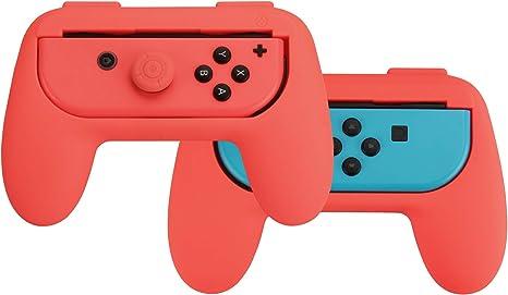 AmazonBasics - Kit de empuñaduras para mandos Joy-Con de Nintendo Switch - Rojo: Amazon.es: Videojuegos