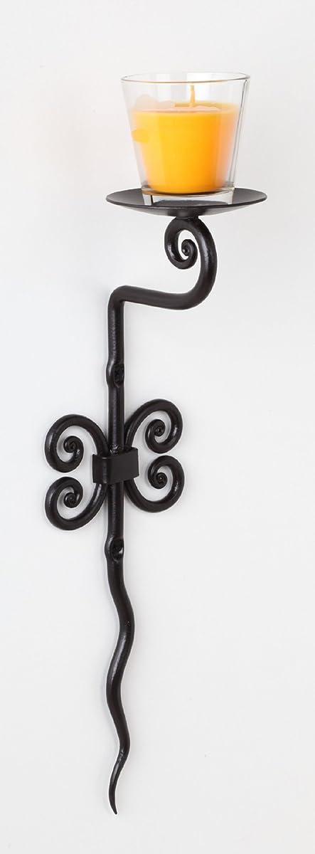 RTZEN Decorative Blacksmith Wrought Iron Candle Holder | Wall Sconce Décor