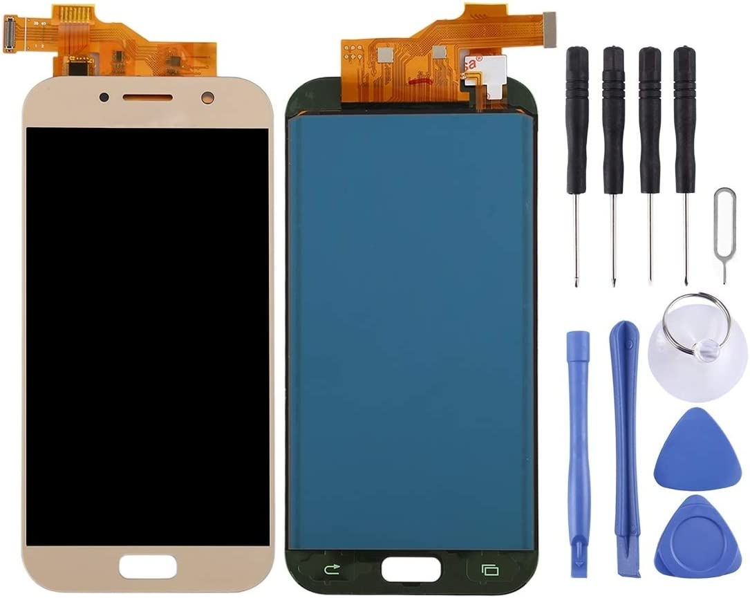 A520K Black A520F//DS 2017 MOBILEACCESSORIES for Tang YI MING TENGLIN LCD Screen and Digitizer Full Assembly TFT Material A520L A520S A520F for Galaxy A5 Color : Blue