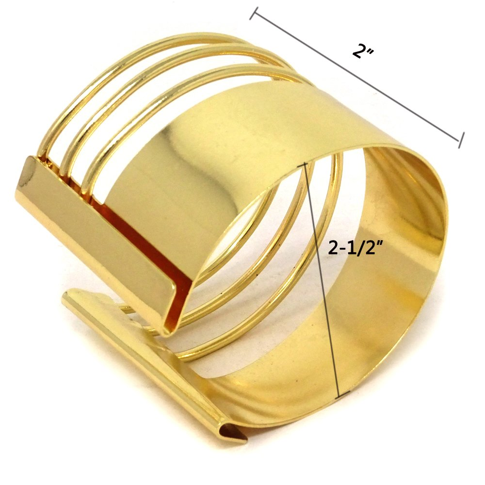Yueton Rigid Steel Memory Wire Metal Circle Split Ring Coil Wire Thin Jewelry Hammered Bunch Cuff Bracelet Bangle Golden