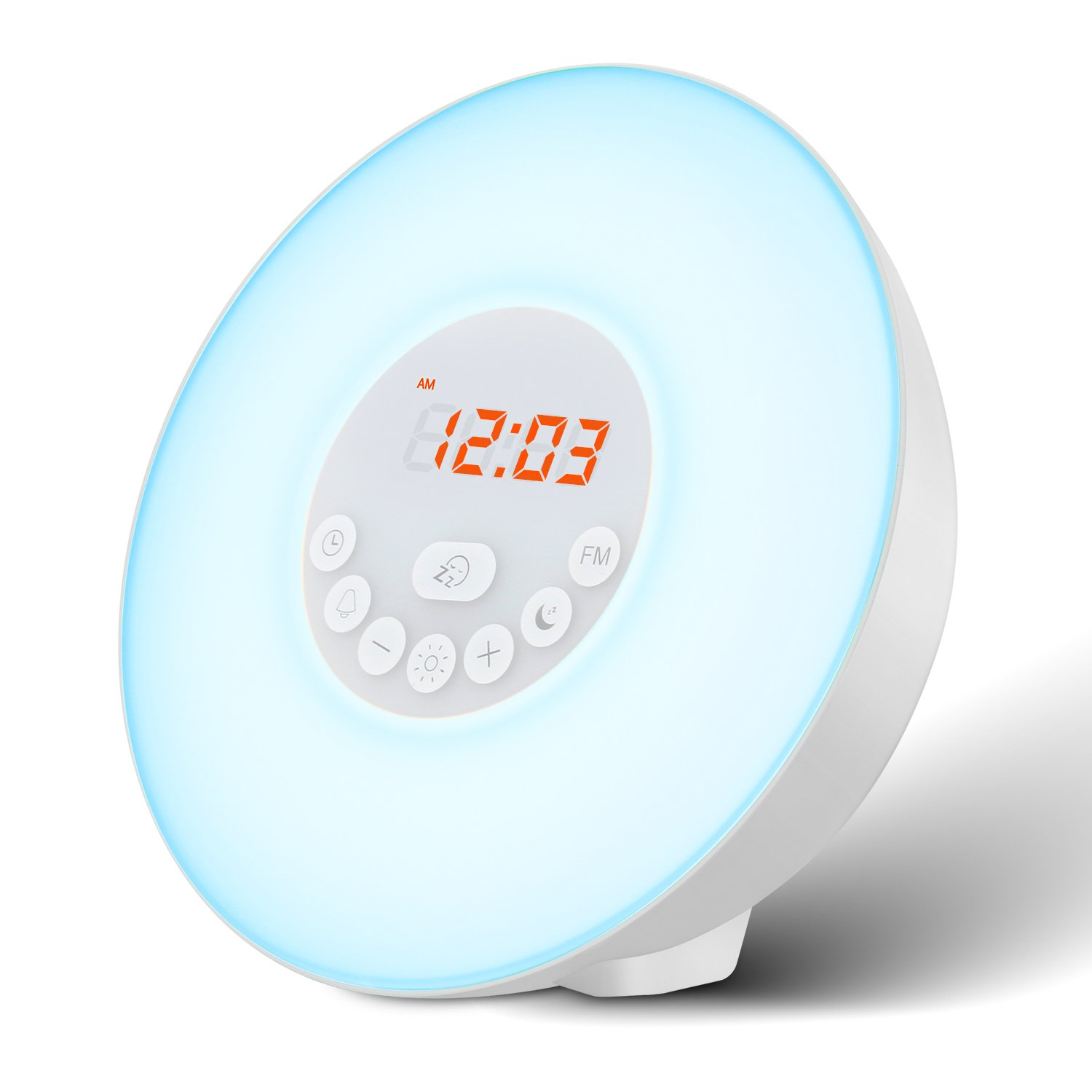 Luz Despertador Mospro Alarma Con Repetición De Luces Nocturna Con LED Digital