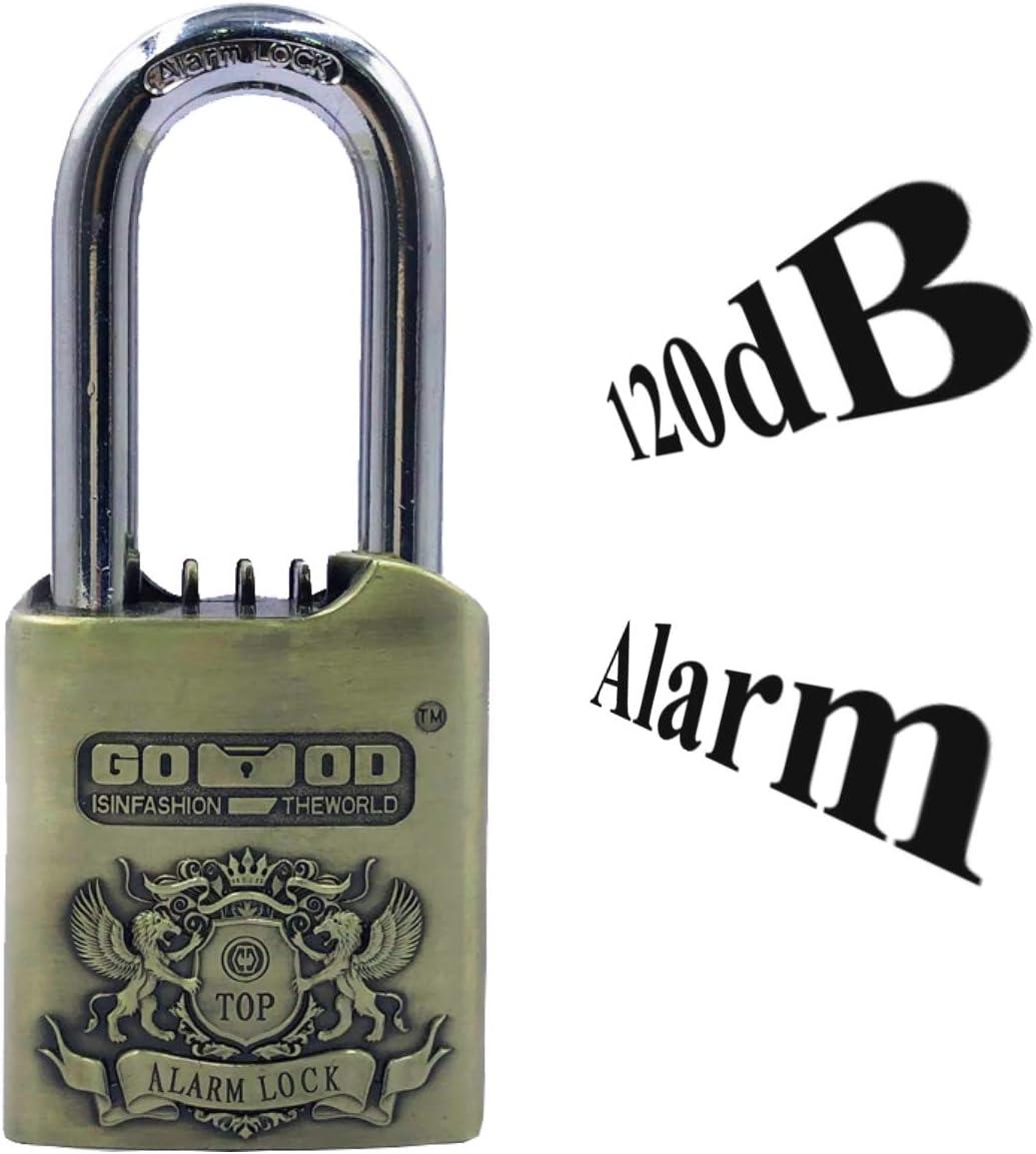 Metall Urban Security UR906M Anti-Diebstahl-Vorh/ängeschloss mit Alarm 120 dB