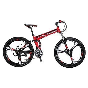 Eurobike G4 - Bicicleta de montaña de 21 velocidades, Estructura de Acero, Ruedas de