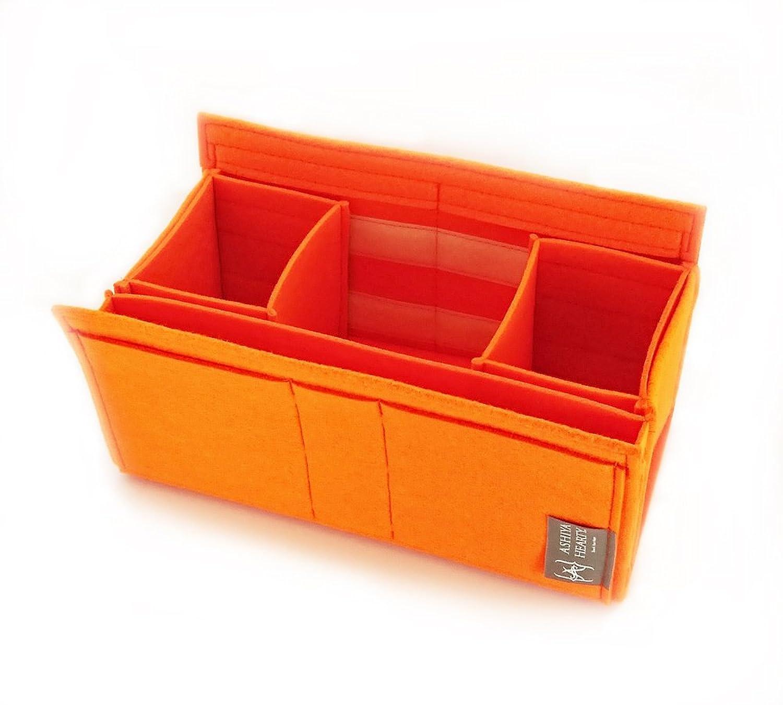 エルメスガーデンパーティPM用フェルトバッグインバッグ 【Ashiya Hearty(芦屋ハーティ)】 W:34cm H16cm D:15cm B06XCM7TDG  オレンジ
