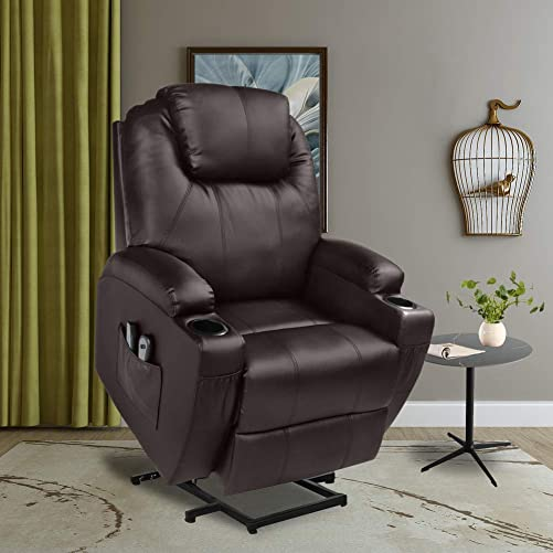U-MAX Recliner Power Lift Chair Wall Hugger PU Leather