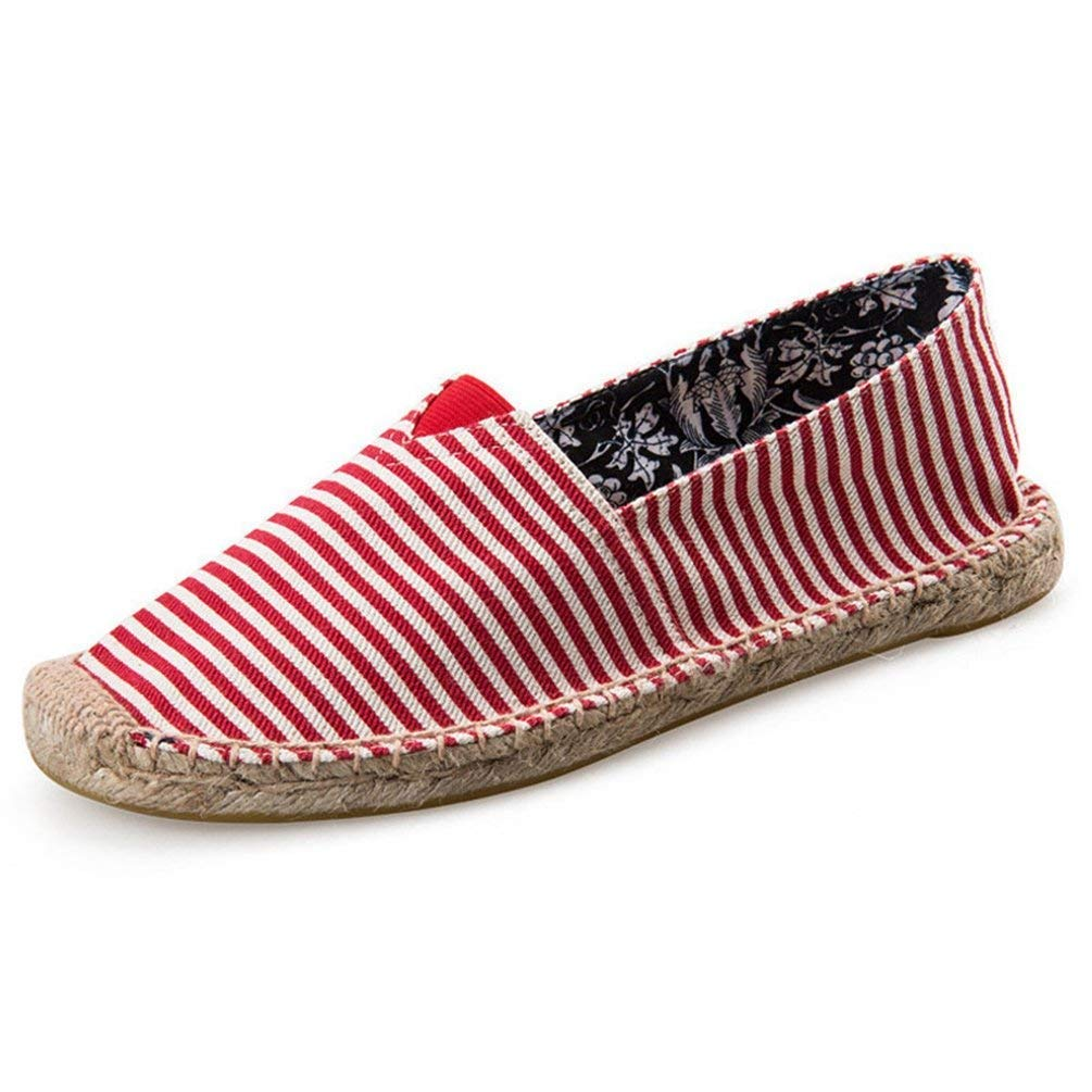 c6a26cba2a5486 Farbe : D8004 Red11, Größe : 5.5=39 EU HhGold Mens Espadrilles Männer Slip  On Sommer Schuhe Müßiggänger ...
