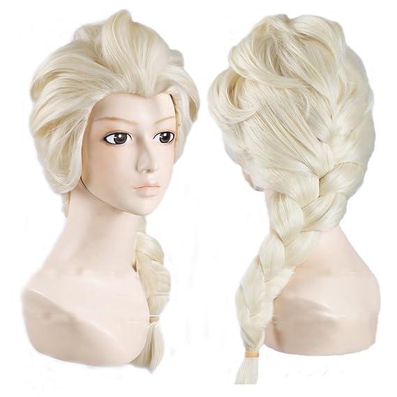 Xcoser Prinzessin Party Wig Elsa Perucke Haar Tails Frisur Fur