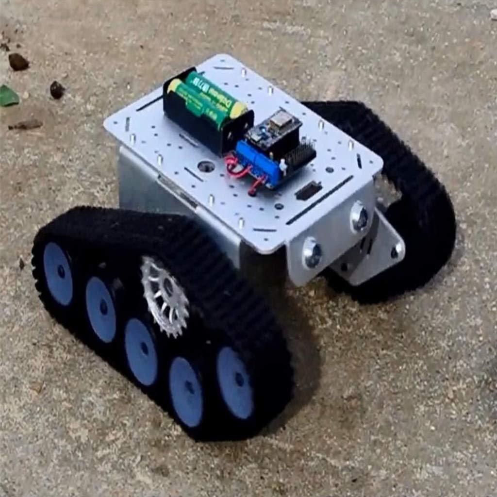 B Blesiya Roboter Mini-TP300 -Kettenfahrgestell Intelligente Roboter Blesiya Auto Tank Aluminium-Legierung Plattform Auto DIY Kit - Splitter 6fa62d
