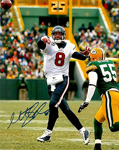 Matt Schaub Signed Photograph - 8x10 w Proof!) - Autographed NFL Photos