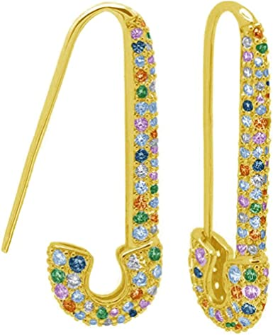 Huggie Hoop Earrings Colorful Crystal Gold Plated Cartilage Earrings Hoops Fashion Jewelry Gift for Women Girls