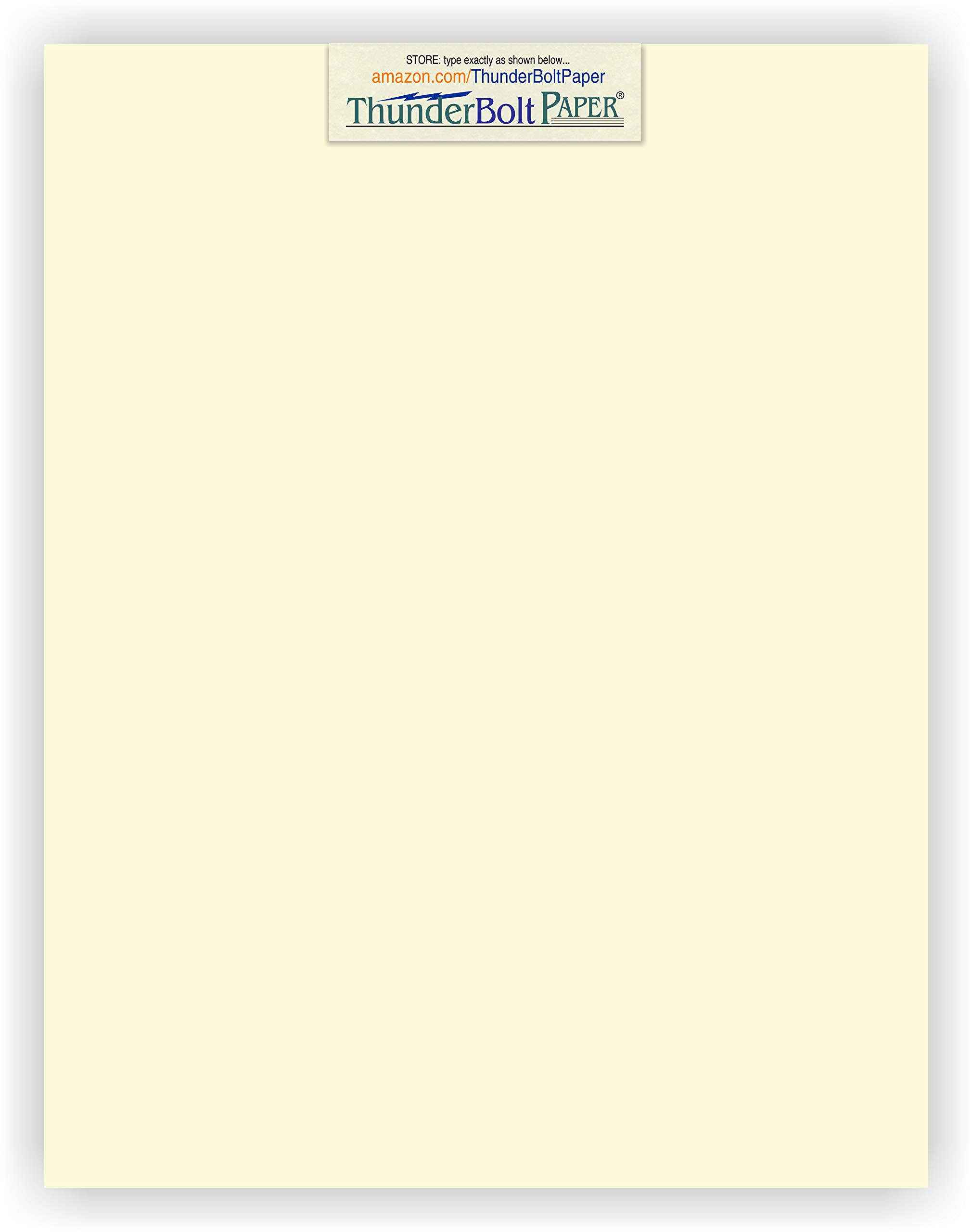 250 Natural Smooth Card Stock Sheets Paper - 7.25 X 10.5 inches Executive Size - 80# (80 lb/Pound) Cover Weight - Soft Cream White Color - Quality Paper - Smooth Finish