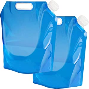 Collapsible Water Container 20L, BPA Free Plastic Water Carrier, Outdoor Folding Water Bag for Sport Camping Riding Gardening (2 Packs10LBlue)