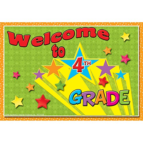 4th Grade Postcards - Top Notch Teacher Products TOP5120BN Postcards Welcome to 4TH Grade, Grade Kindergarten to 1, 3.6