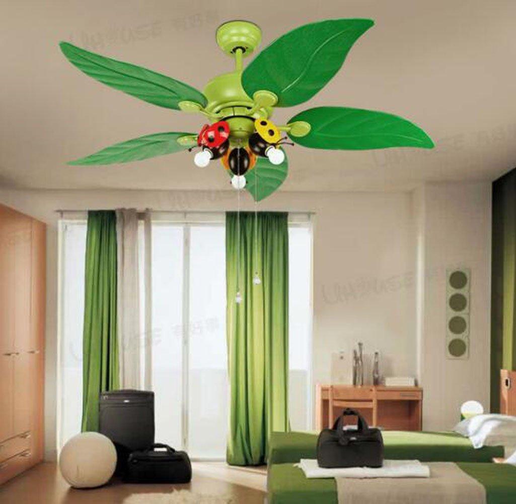 Huston Fan 42-inch Children's Room Ceiling Fan Light Cartoon Fan With LED Living Room Bedroom Ceiling Fan Chandelier Lamp Fan Lamp