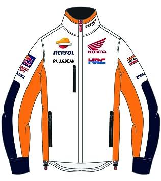 HONDA Repsol Moto GP Teamwear Replica Invierno Chaqueta Blanco Oficial 2018: Amazon.es: Coche y moto