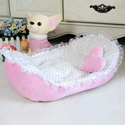 Pet Bed,Elevin TM Pet Dog Puppy Princess Bows Lace Heart Elegant Lovely Bed Doghouse Pet Warm Bed