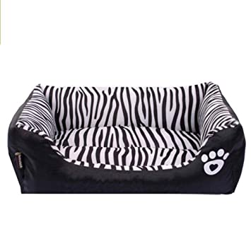 Vivian Inc Beds & Furniture - New Dog Bed Waterproof Zebra Pattern Pet House Kennel Moistureproof