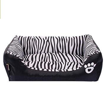 Vivian Inc Beds & Furniture - New Dog Bed Waterproof Zebra Pattern Pet House Kennel Moistureproof