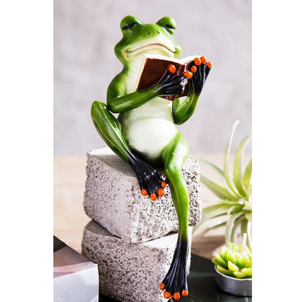 A MagiDeal Creativo Ornamenti Artigianato Abbellimnti 3D Modello Figurina Rana Animale per Casa Balcone Giardino